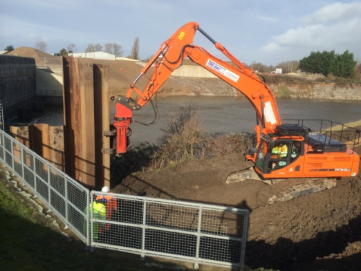 Somerset Levels TMS Emergency Jetty Construction