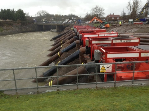 Somerset Levels - Vanheck Pumps on TMS Emergency Jetty