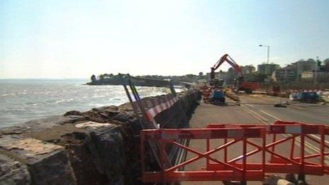 Torquay Sea Wall Breach